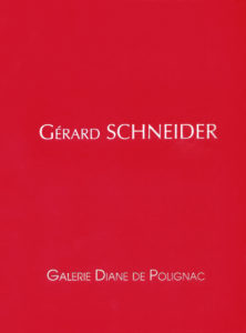catalogue d'exposition gerard schneider