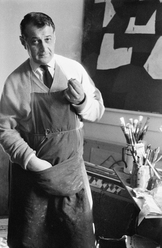 serge poliakoff - photographie dans son atelier