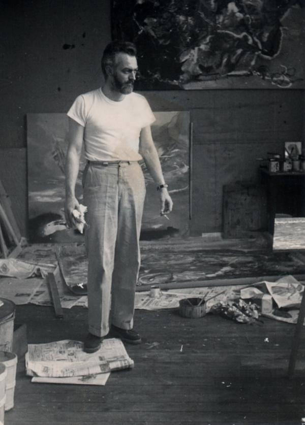 paul jenkins - portrait atelier artiste