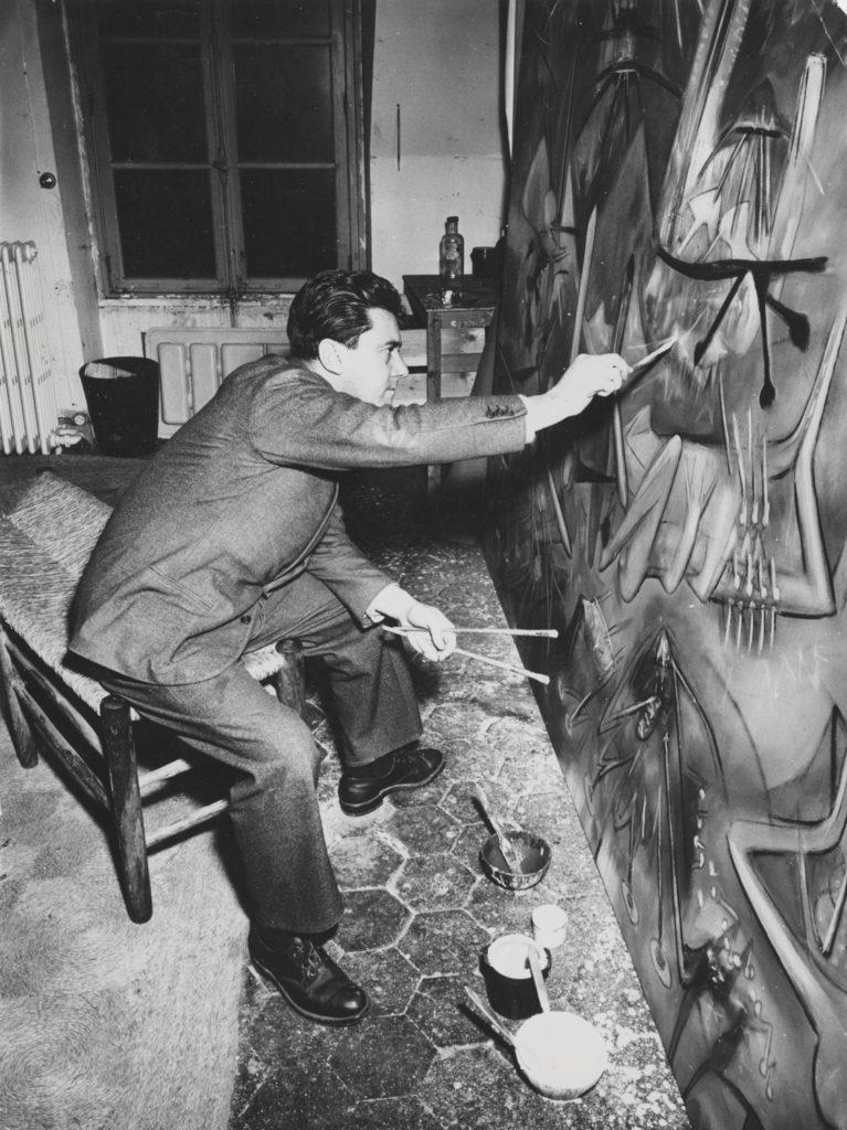 roberto matta - photographie atelier 1956