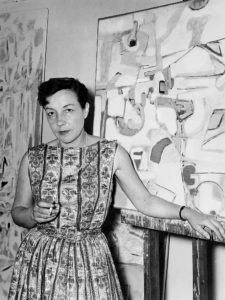 marie raymond - portrait peinture 1956