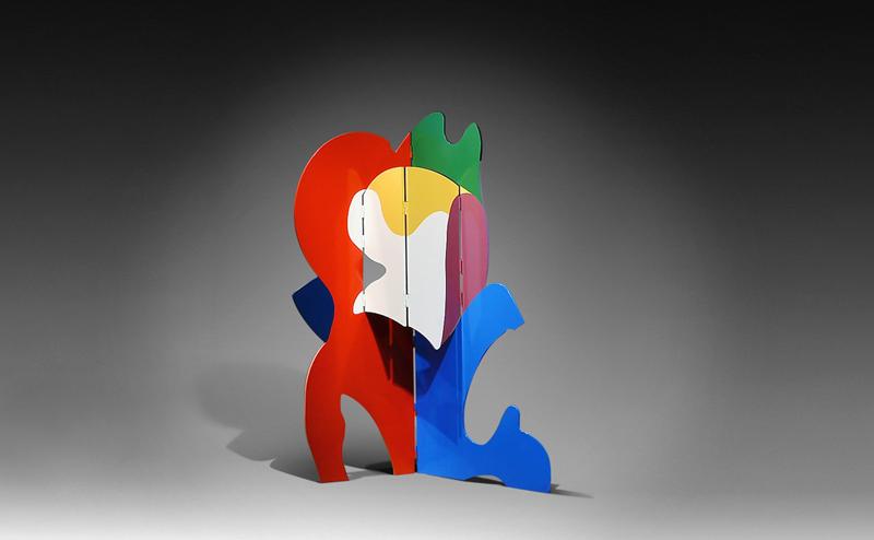 guy de rougemont - paravent exposition galerie diane de polignac