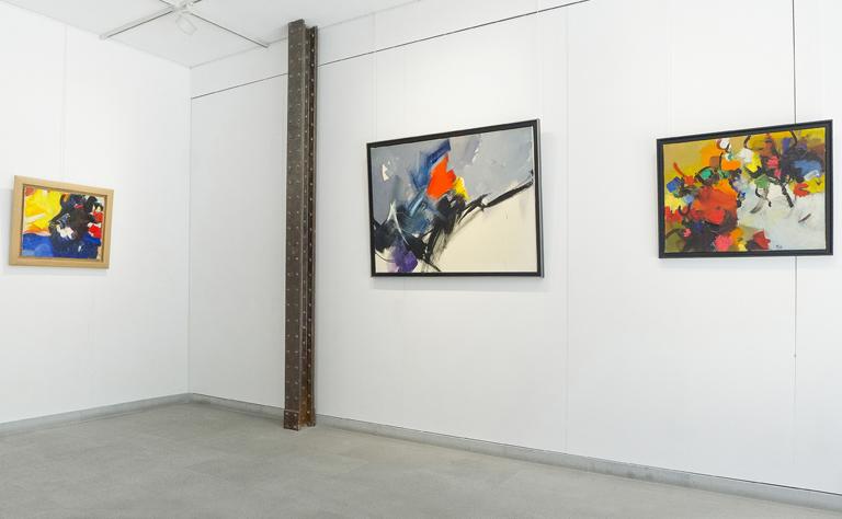 jean miotte - peintures exposition galerie diane de polignac 2019