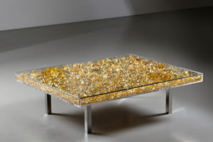 yves klein - table monogold