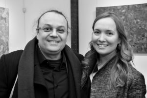 marie raymond - yves amu et sa compagne vernissage galerie diane de polignac