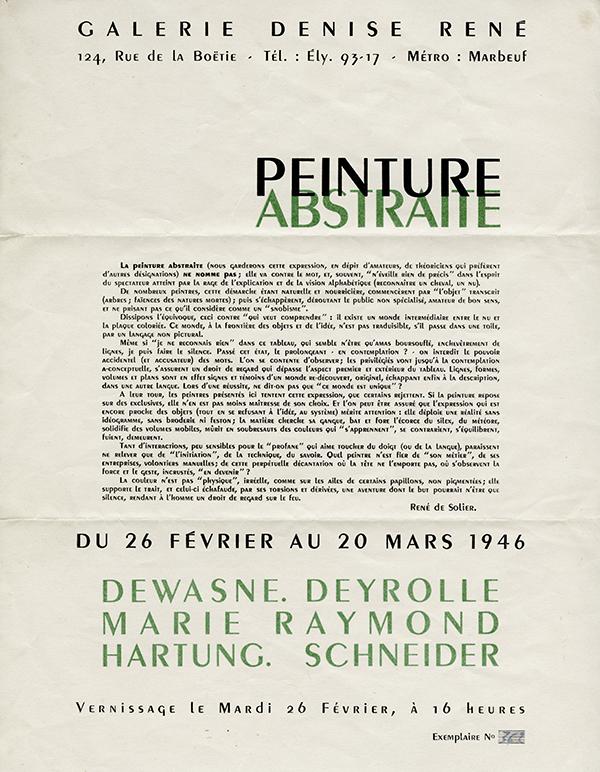 gerard schneider - exposition 1946