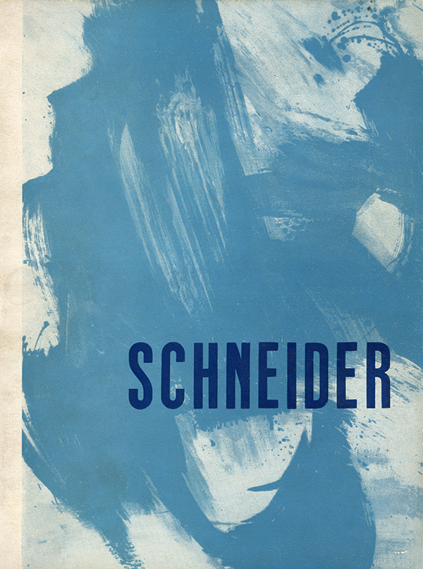 gerard schneider - catalogue 1961