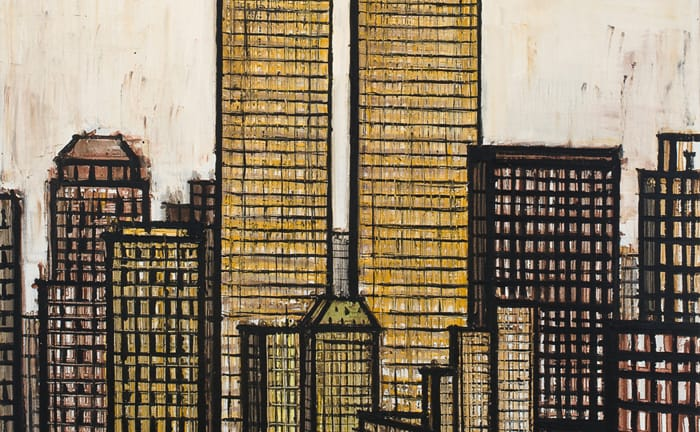 bernard buffet - twin towers 1989