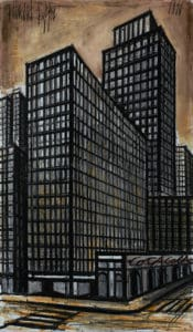 bernard buffet - new york daily news building 1990