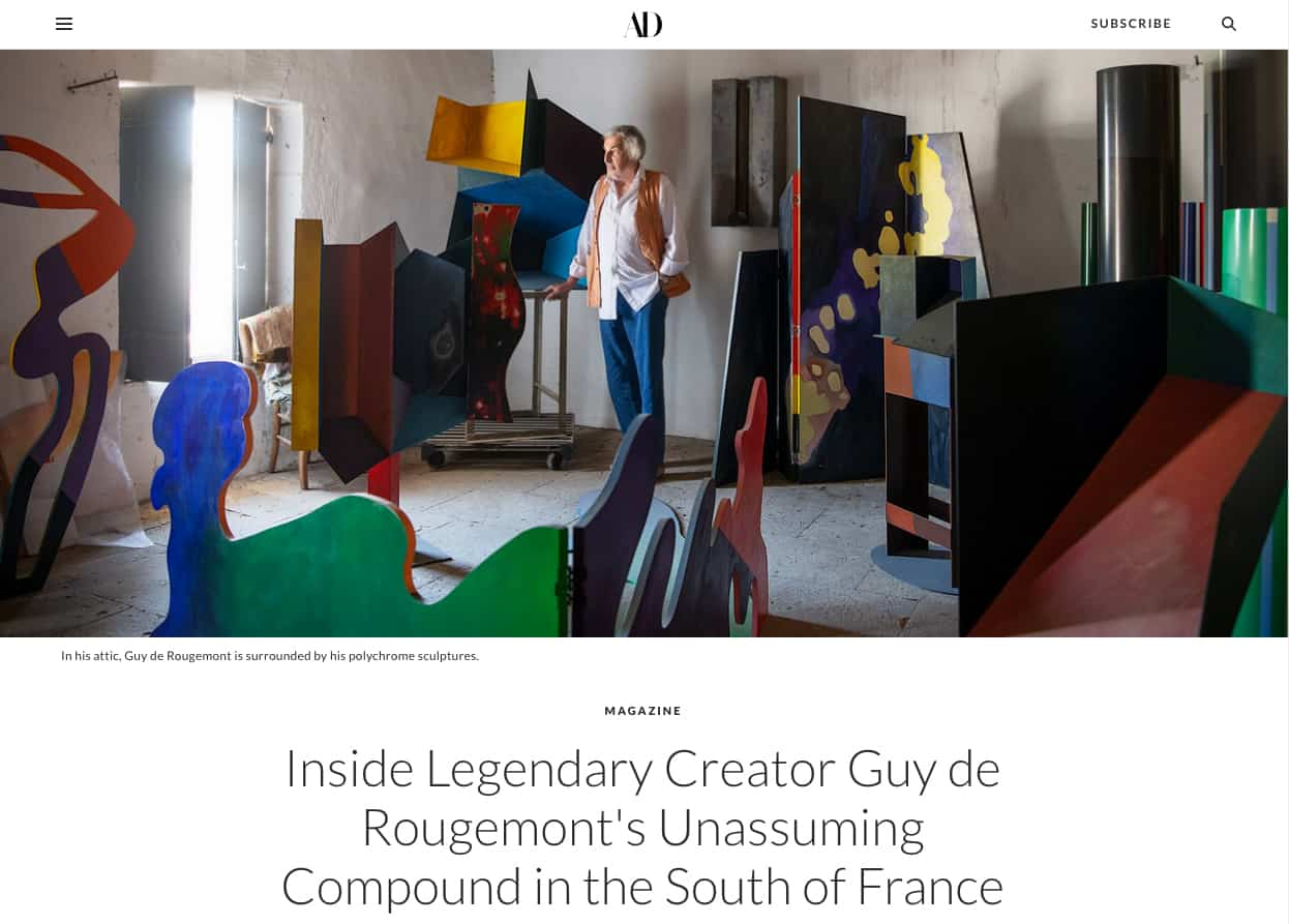 guy de rougemont - ad magazine publication