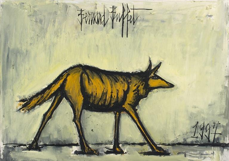 bernard buffet - peinture loup