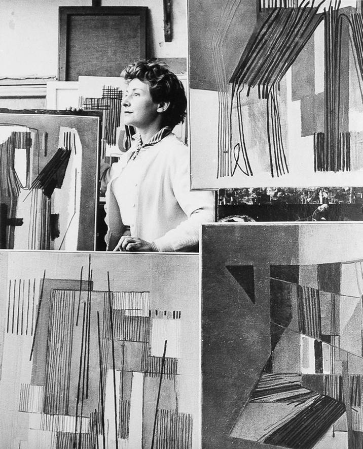 Huguette Arthur Bertrand - portrait atelier galerie diane de polignac