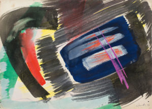 gerard schneider - untitled gouache 1952