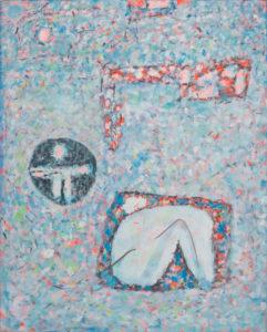 marie raymond - peinture enfermes dans les formes 1976