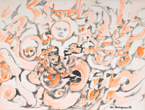 marie raymond - peinture sans titre 1975