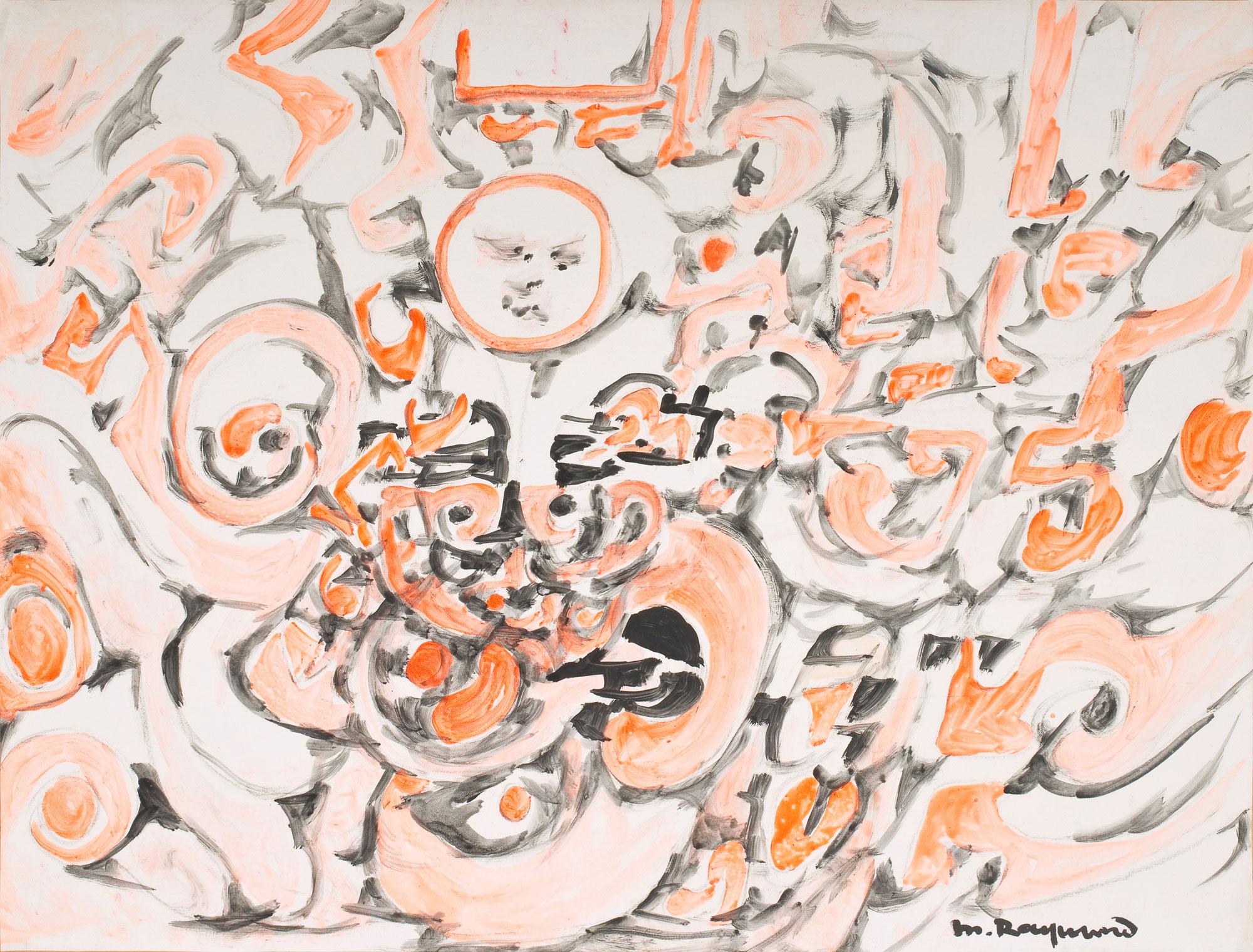marie raymond - untitled painting 1975