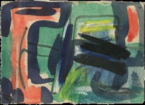 gerard schneider - c 1954 gouache papier