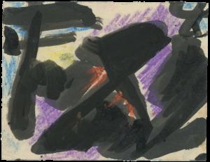 gerard schneider - sans titre c 1950 pastel