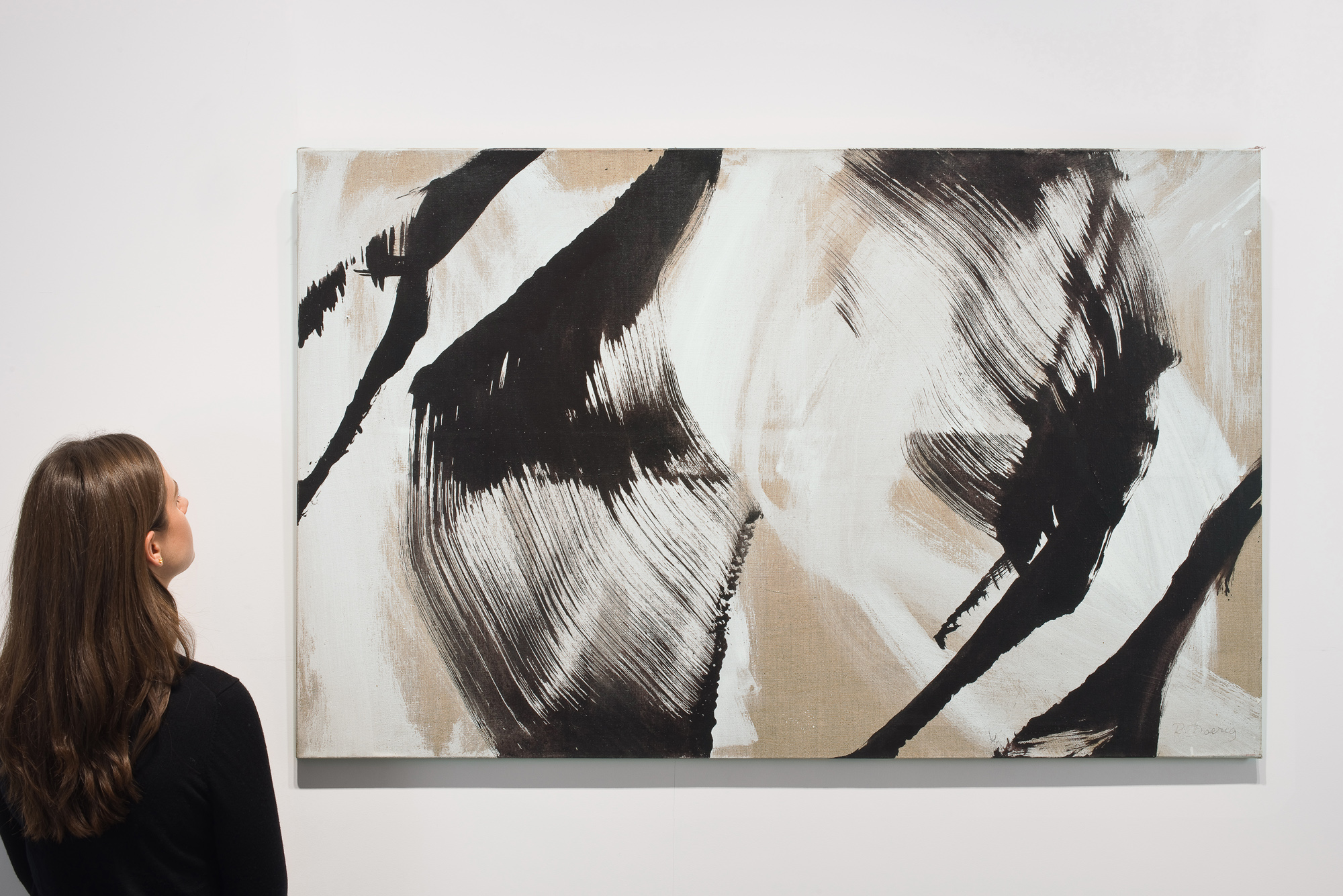 roswitha doerig - gestes blancs noirs painting 2008