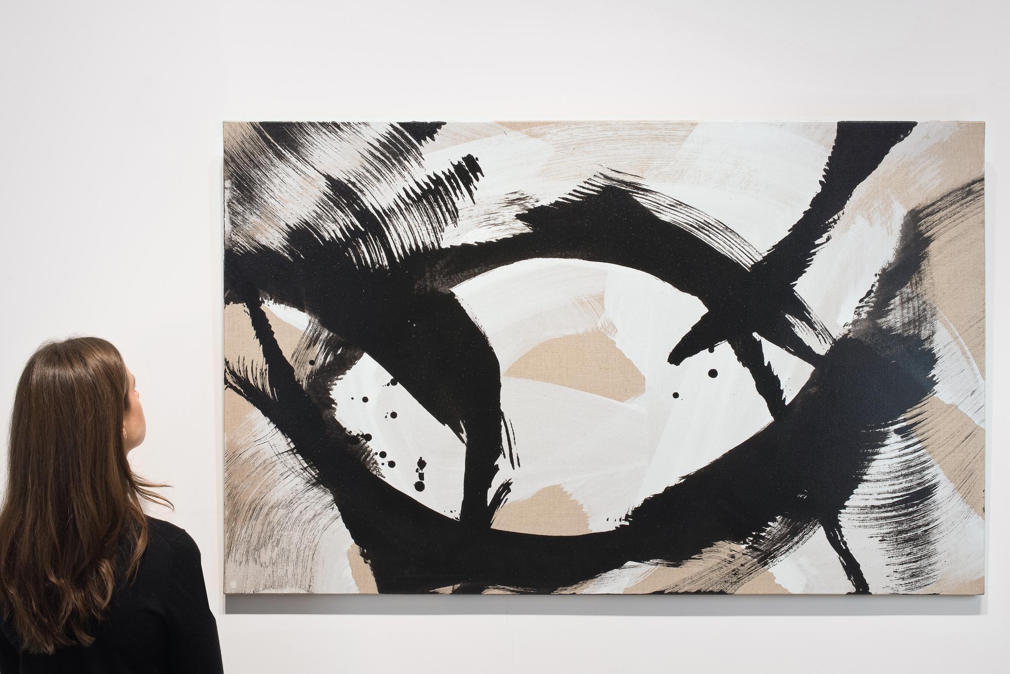 roswitha doerig - gestes blancs noirs peinture 2008 acrylique