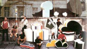 guy de rougemont - sur le toit de l atelier rue des quatre fils 1972