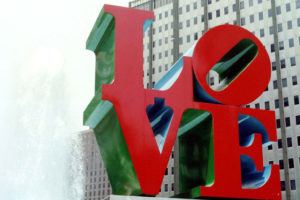 robert indiana - love sculpture 1976