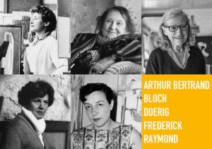 抽象展5人の女性5人の芸術的表現2021