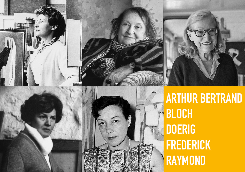 exposition - abstraites cinq femmes cinq expressions artistiques 2021