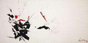 georges mathieu - karate 1971 painting