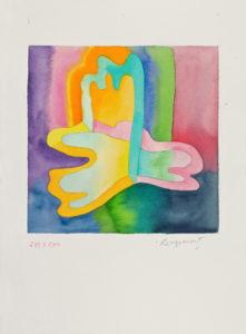 guy de rougemont - aquarelle papier peinture sans titre 2000