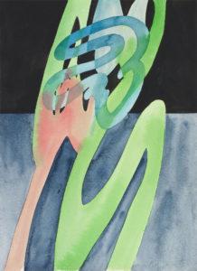 guy de rougemont - aquarelle sans titre papier 2000