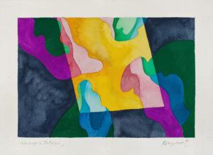guy de rougemont - hommage a pontormo aquarelle papier 2000