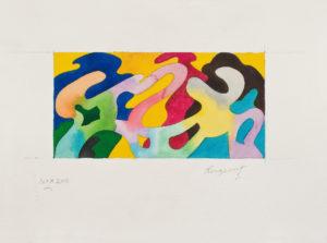 guy de rougemont - papier feuille aquarelle c 2000