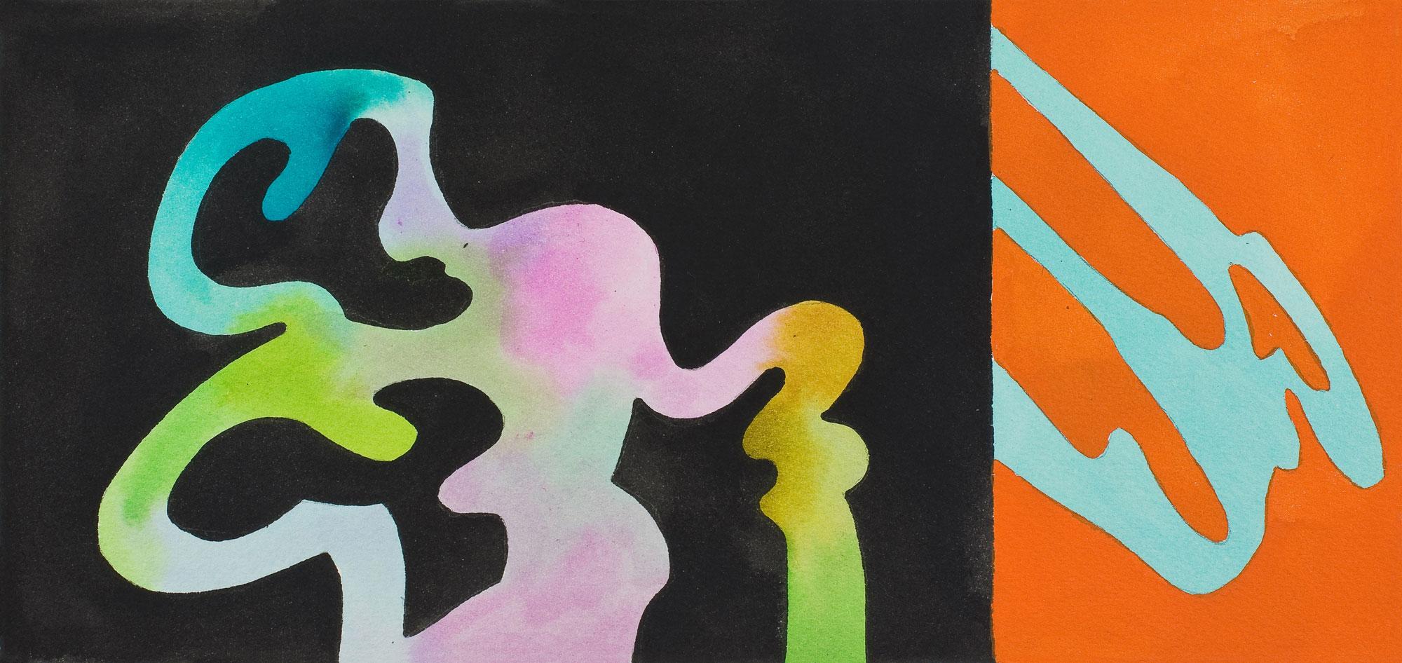 guy de rougemont - sans titre 2002 aquarelle papier