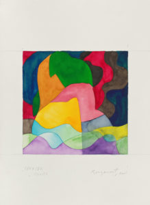 guy de rougemont - sans titre aquarelle papier 2001
