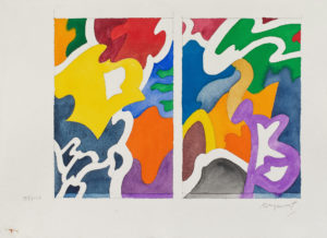peinture aquarelle - guy de rougemont 2000 papier