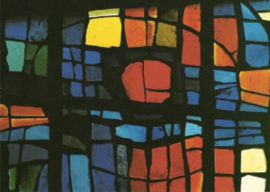 roswitha doerig - stained glass window church saint paul 1968