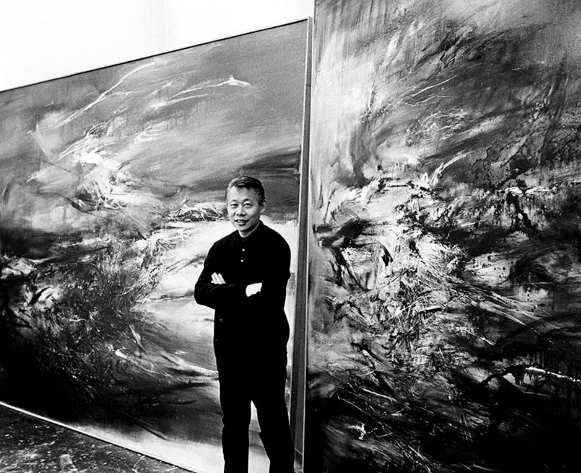 zao wou ki - portrait 1967 sidney waintrob