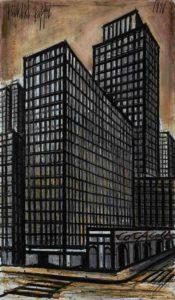 bernard buffet -new york daily news building 1990 newsletter art comes to you 6
