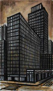 bernard buffet - new york daily news building 1990 newsletter art vient a vous 6