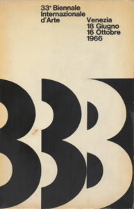 biennial - poster 33 venise italie 1966