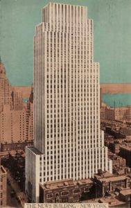Postcard - daily news building 1941 newsletter art comes to you 6
