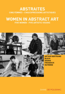 catalog cover - exhibition women in abstract art five women five artistic visions 2021