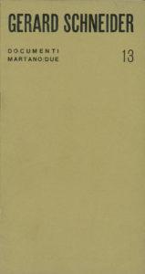 catalogue exposition - gerard schneider turin 1968
