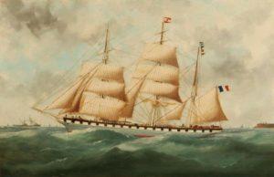 edouard adam - la jeanne d arc sortant du Havre 1906 1911 newsletter art vient a vous 1