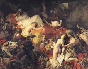eugene delacroix - la mort de sardanapale 1827 painting