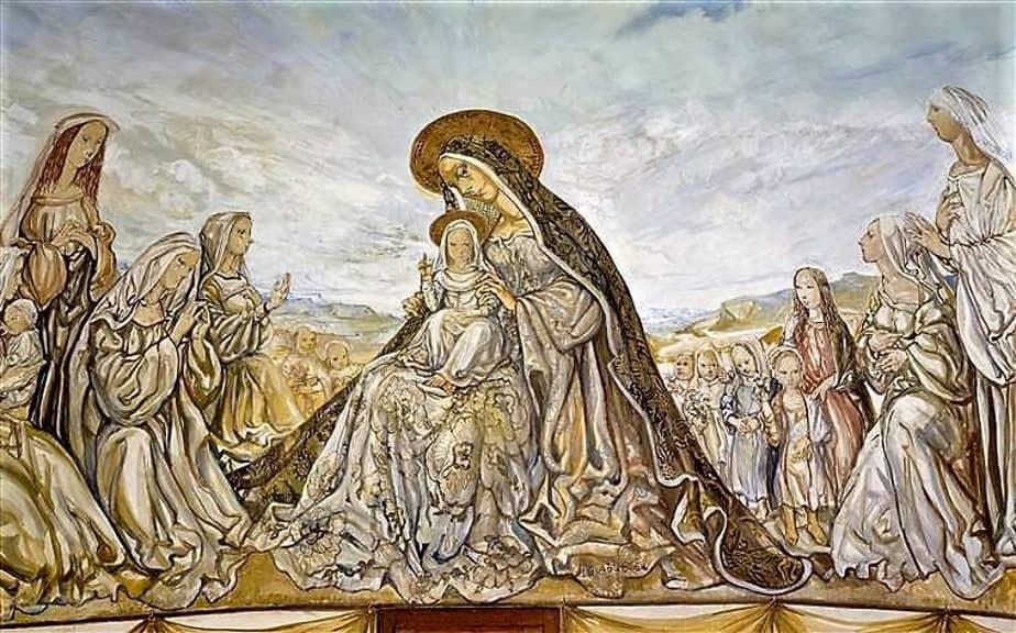 foujita - la vierge et enfant fresco 1966 newsletter art comes to you 8