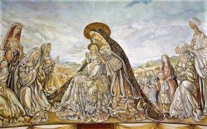 foujita - la vierge et enfant fresque 1966 newsletter art vient a vous 8