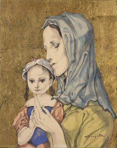 foujita - mere et enfant c 1959 newsletter art vient a vous 8