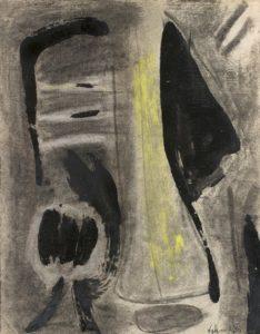 gerard schneider - 1949 sans titre fusain